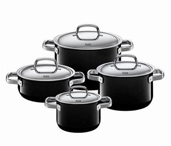 kookpottenset(4) zwart-Silit