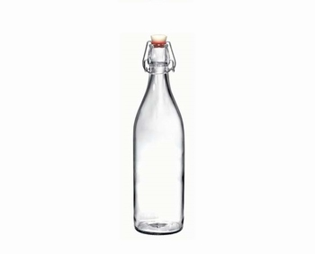 fles 1L transparant glas