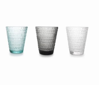 Stripe green drinkglazen hoog set/4 - Salt&Pepper