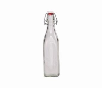 flesje 0,25 L transparant glas