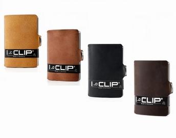lederen kaarthouder soft touch met geldclip - I-Clip
