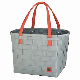 boodschappentas color block - Handed By - jadegroen / orange