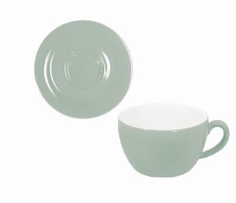 tasse cappuccino et sous-tasse - Kahla pronto-vert opal