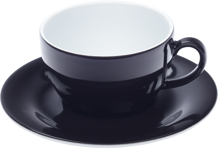 tasse cappuccino et sous-tasse - Kahla pronto-noir