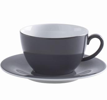 tasse cappuccino et sous-tasse - Kahla pronto -antracite