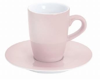 2x espressotas 0,10L en ondertas -Pronto Kahla -roze
