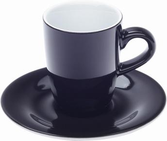 tasse espresso et sous-tasse - Kahla pronto-noir
