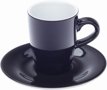 2x espressotas 0,10L en ondertas - Pronto Kahla - zwart
