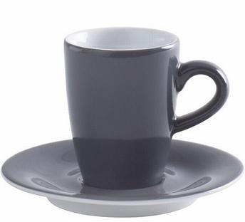2x espressotas 0,10L en ondertas -Pronto Kahla -antraciet