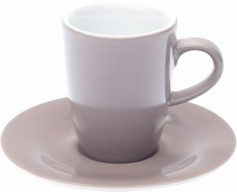 2x espressotas 0,10L en ondertas - Pronto Kahla - taupe