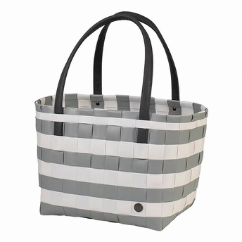 shopper vintage block - Handed By - gris clair