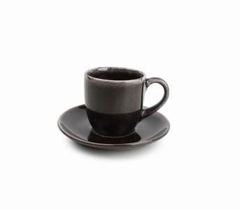 Artisan kop en schotel - S&P - bruin zwart