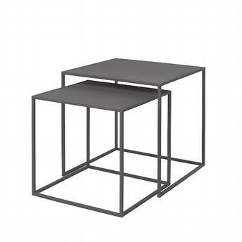 Ensemble de tables d'appoint gris fonçe set/2 - Blomus