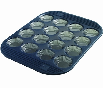 moule 16 tartelettes cannelés silicone-Mastrad