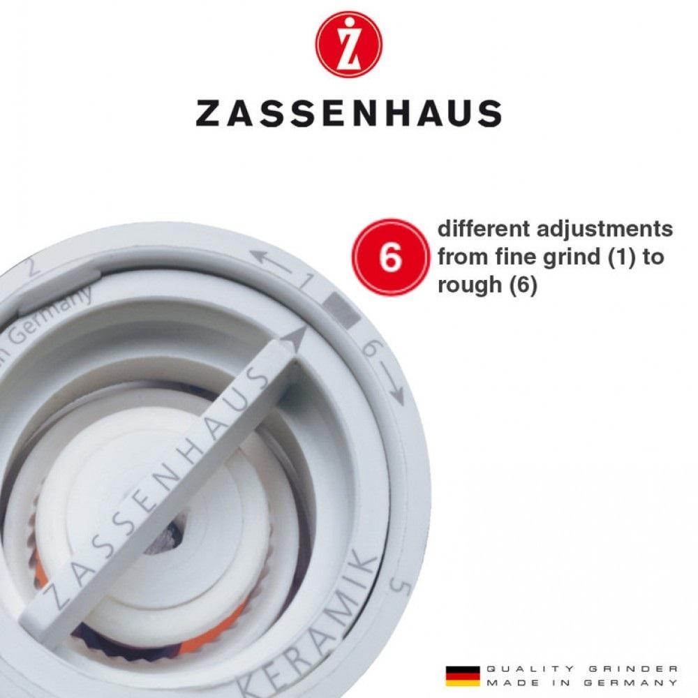 Aachen acryl/rvs 14 cm zoutmolen-Zassenhaus