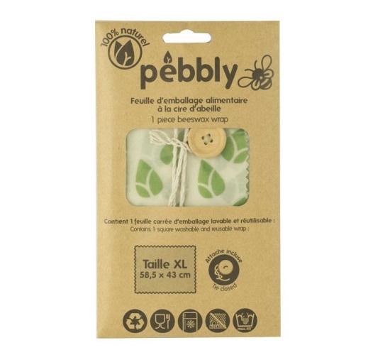 Bijenwas vershouddoek met sluitknop XL - Pebbly