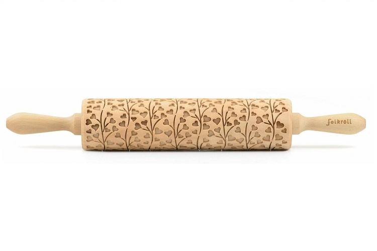 Deegrol hout decoratief gegraveerd 43 cm