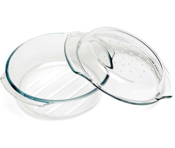 plat à four rond avec couvercle - 2,4 L