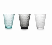 Fabric drinkglazen set/4 - Salt&Pepper