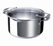 kookpot inox met afgietdeksel - Beka